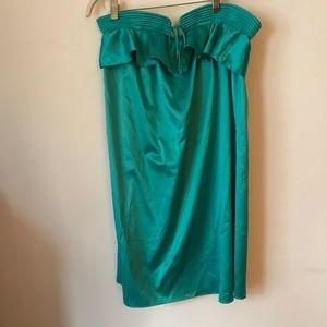 Carlos Miele Green Strapless Dress